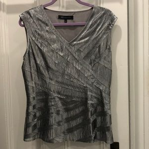 Anne Klein silver lined top